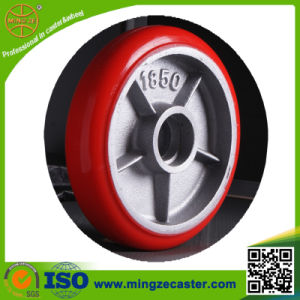 Korea Type Cast Iron PU Caster Wheel pictures & photos