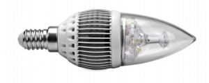 Gray 3W Epistar Chip E27 E14 Cool/Warm White High Power LED Candle Light, Bulb Lamp