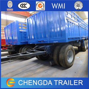 China 3 Axles Flatbed Cargo Full Trailer with BPW Axles pictures & photos