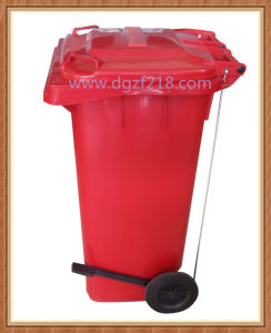 120L Quality Outdoor Plastic Sanitation Dustbin with Pedal for Sale pictures & photos