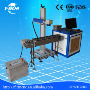 High Precision Flying Fiber Laser Marking System with Conveyor Device pictures & photos