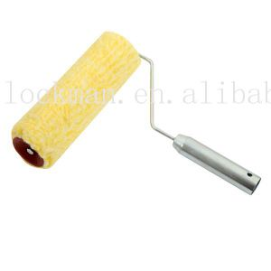 Yellow Color Acrycil Fabric Iron Handle Paint Roller (SG-041R) pictures & photos