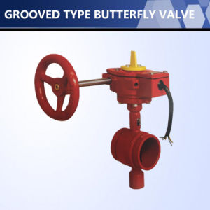 UL FM Listed Grooved Type Butterfly Valve pictures & photos