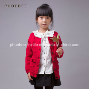 100% Wool Knitted Cardigan Baby Clothes for Girls pictures & photos