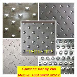 201 304 420 316L 316ti Anti-Skid/Checkered/Checkquer/Diamond Stainless Steel Sheet 0.8mm-16mm pictures & photos