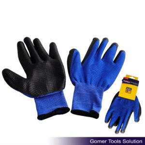 Zebra-Stripe Black Nitrile Coated Gloves