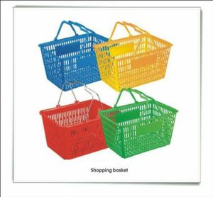 Plastic Supermarket Shopping Basket with Logo pictures & photos