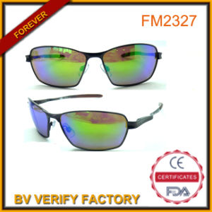 Blue Mirrored Metal Sport Sunglasses for Men, China Manufacturer pictures & photos