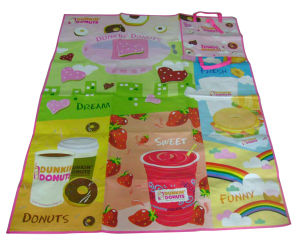 Promotional Printed PP Woven Foldable Beach Mat pictures & photos