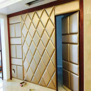 3D Acoustic Wall Panel Decoration Board Decorative Soft Roolls PU Leather pictures & photos