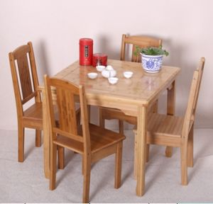 Simple Design Square Table/Bamboo Table with Chairs (QW-JCSG18) pictures & photos