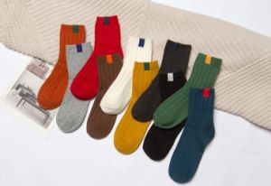 High Grade 100% Cotton Thick Socks pictures & photos
