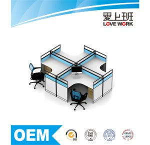 Modern 4 Seats Office Partition Cubicle Workstation