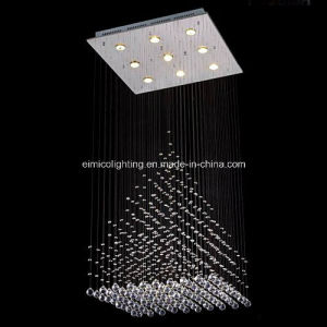 Rectangular Chandelier Ceiling Lighting Crystal Lamp Em6101-9L