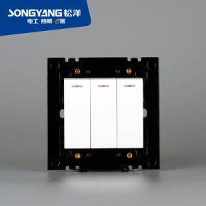 Electric Switch White Series 3gang Wall Switch pictures & photos