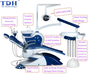 Dental Apparatus/ Elegant Dentist-Friendly Ce Dental Chair (TDH-Mermaid) pictures & photos