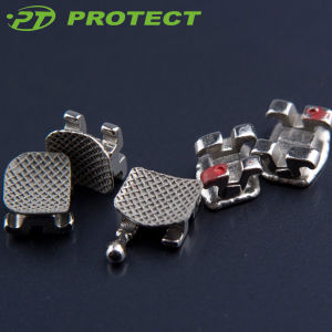 Dental Orthodontic Metal Bracket with Hook (two pieces) pictures & photos
