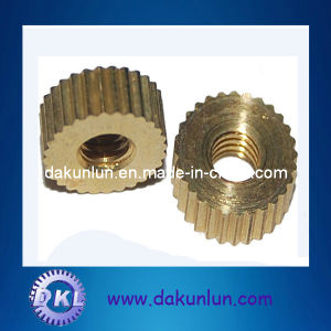 Straight Knurled Brass Nuts (DKL-N003) pictures & photos
