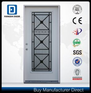 Fangda American Style Office Glass Steel Metal Iron Door pictures & photos
