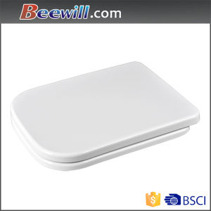 Square Style Toilet Lid with Soft Close Hinge pictures & photos