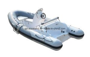 Aqualand 14feet 4.2m Rigid Inflatable Fishing Boat /Rib Motor Boat (RIB420C) pictures & photos
