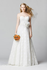 Fashion Ivory Sweetheart A-Line Lace Wedding Pragnent Bridal Dress