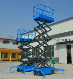 4m Mobile Electric Hydraulic Scissor Lift pictures & photos