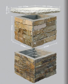 Cement Ledgestone Column, Wall Stone Panel, Culture Stone, Decoration Stone