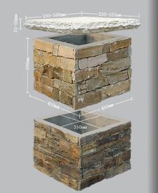 Cement Ledgestone Column, Wall Stone Panel, Culture Stone, Decoration Stone