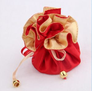 Jewelry Bag Made of Satin or Velvet with Drawstring pictures & photos