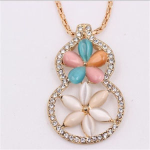 Lovely Calabash Shape Flower Necklace Jewellery