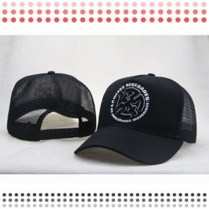 High Quality Fashion Black 6 Panel Baseball Caps for Sale pictures & photos