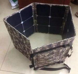 120W Big Power Mobile Device Foldable Solar Power Charger Station Bag Used in Army Radio pictures & photos