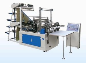 Double Layers Four Lines Cold Cutting PE Plastic Bag Making Machinery (TR-DCC800) pictures & photos
