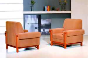 Guangzhou Orange Fabric Office Customer Waiting Sofa (FOH-6682) pictures & photos