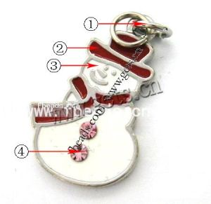 Zinc Alloy Christmas Pendants, Snowman (100904114253)