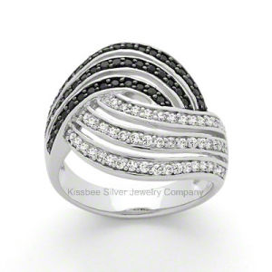 Luxury Design 925 Silver CZ Jewellery Black Plated Ring Accessories pictures & photos
