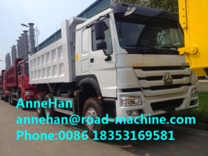 HOWO 14m3 Tipper Heavy Duty Dump Truck with Strengthen Bumper in White pictures & photos