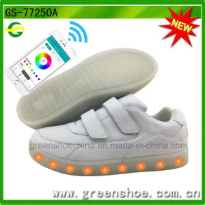 New APP Controlled LED Shoes Manufacturer Cool Light Shoes with Remote Controller pictures & photos