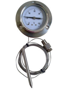 Back Type Pressure Thermometer with Capillary (B-0073)