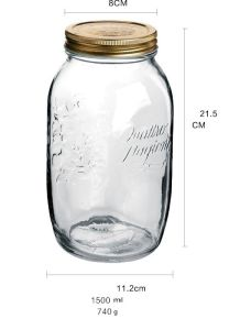 1500ml Mason Jar Storage Food in Kitchen with Screw Lid pictures & photos