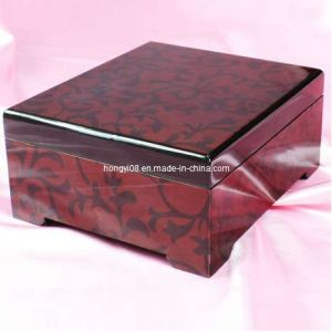 Red High Gloss Obscure Vines Wooden Box (HYW030)