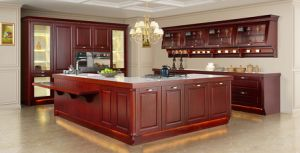 2017 Solid Wood Kitchen Cabinet, Solid Wood Kitchen Furniture (sm-001) pictures & photos