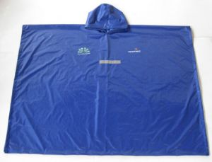 Outdoor Travel Working Camping PVC Rain Coat with Cap pictures & photos