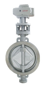 Hard Metal Seal Butterfly Valve with Actuator pictures & photos