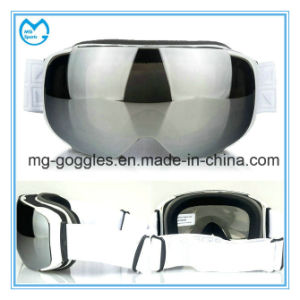 Magnetic Ultraviolet PC Mirror Anti Shock OTG Snowboarding Goggles pictures & photos