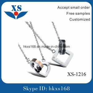 New Design Stainless Steel Couple Jewelry Charm