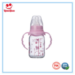 240ml Straight Glass Baby Bottle with BPA Free Nipple pictures & photos