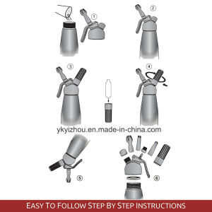 Professional Whipped Cream Dispenser Stainless Steel Cream Whipper pictures & photos