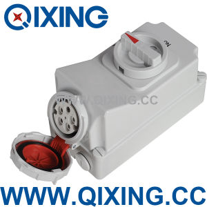 16A 5p IP67 Interlock Socket with Switch pictures & photos